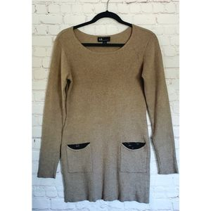 AGB Long Sweater Sequined Embellished Pockets L